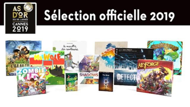 l'As d' Or - Jeu de l' Année 2019 sera décerné le 21 février, en ouverture du festival, à trois jeux.