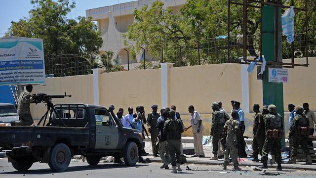 Attaque contre le ministère de l'Education somalien le 14 avril 2015.