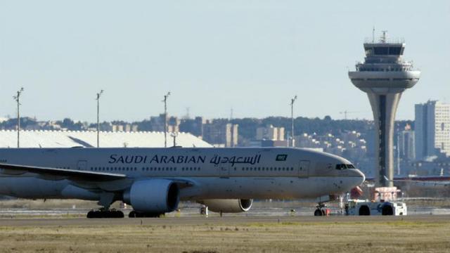 L'avion de la Saudi Arabian Airlines a été immobilisé au sol pendant deux heures avant d'avoir confirmation qu'il n'y avait pas de danger. (Photo d'illustration)