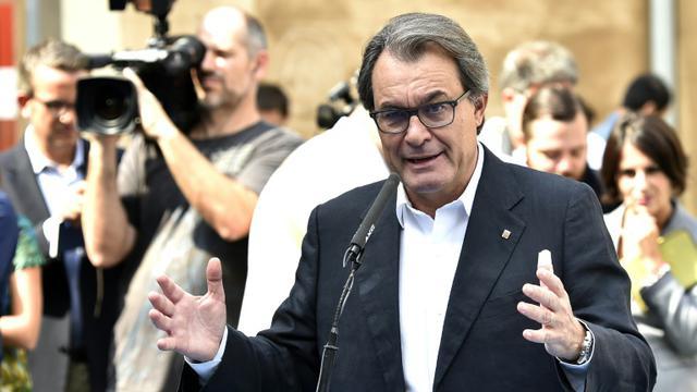 Le président indépendantiste de la Catalogne, Artur Mas, le 27 septembre 2015 à Barcelone  [GERARD JULIEN / AFP/Archives]