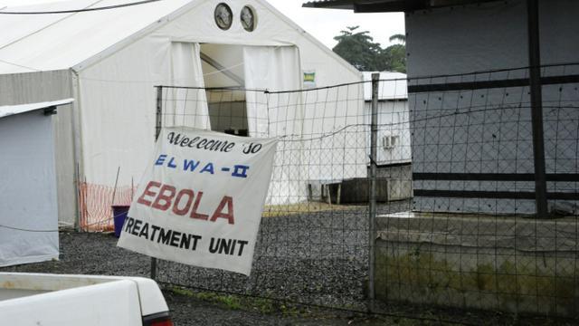 Entrée de la clinique Elwa à Monrovia, spécialisée dans le traitement du virus Ebola, le 20 juillet 2015 [ZOOM DOSSO / AFP/Archives]