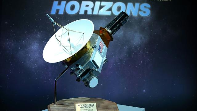 Une maquette de la sonde New Horizons, le 15 juillet 2015 à Laurel, dans le Maryland [MARK WILSON / Getty/AFP/Archives]