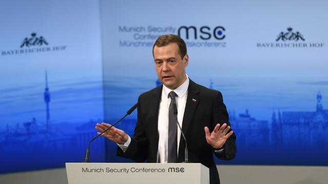 Le Premier ministre russe Dmitri Medvedev à Munich, le 13 février 2016  [Christof STACHE / AFP]