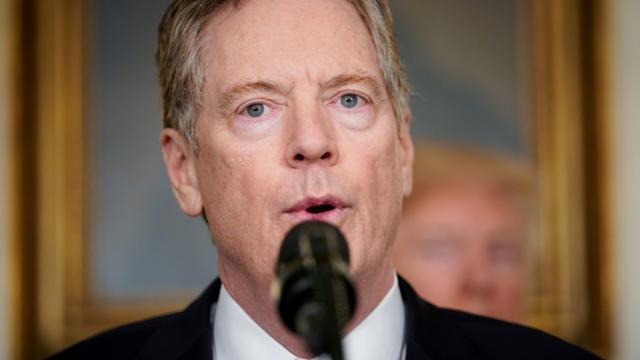 Le représentant américain au Commerce (USTR) Robert Lighthizer le 22 mars 2018 à la Maison Blanche [Mandel NGAN / AFP/Archives]