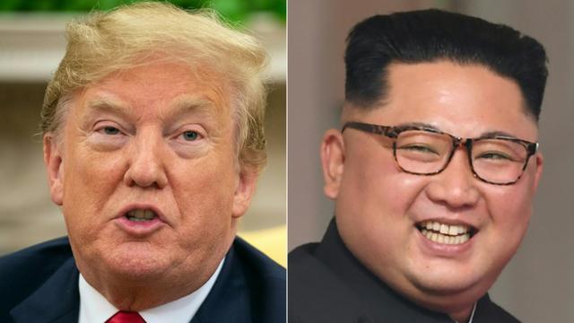 Lors de leur sommet historique à Singapour en juin, Kim Jong Un et Donald Trump avaient signé une déclaration vague sur la dénucléarisation mais depuis, les négociations n'ont guère progressé [NICHOLAS KAMM, SAUL LOEB / AFP/Archives]