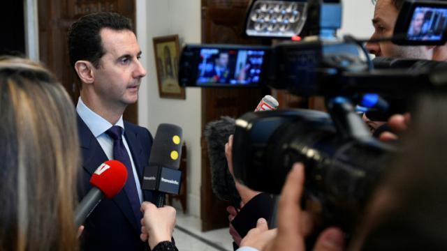 Le président syrien Bachar al-Assad le 9 janvier 2017 à Damas  [HO / SANA/AFP]