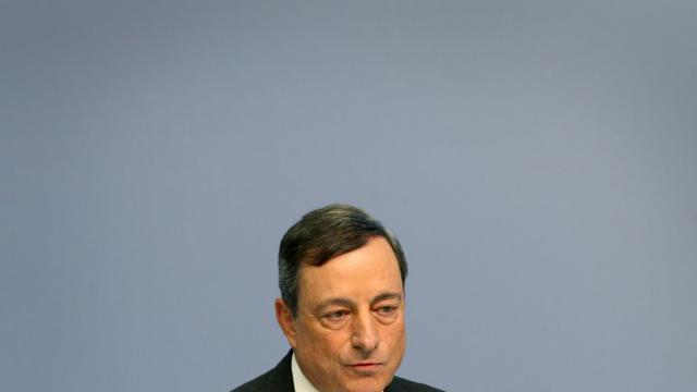 Le président de la Banque centrale européenne Mario Draghi à Francfort en Allemagne, le 16 juillet 2015 [Daniel Roland / AFP]