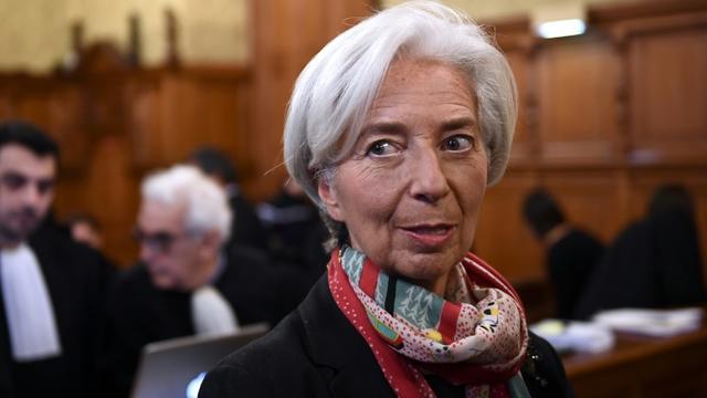 Christine Lagarde, avant le début du procès, le 12 décembre 2016 [Martin BUREAU / AFP]