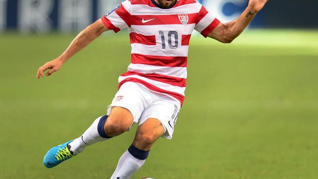 Le buteur légendaire des Etats-Unis Landon Donovan contre le Honduras en demi-finale de la Gold Cup, le 24 juillet 2013 à Arlington au Texas [Frederic J. Brown / AFP/Archives]