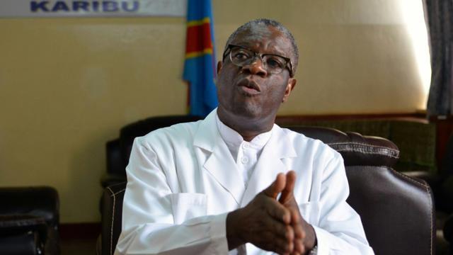 Le docteur congolais Denis Mukwege, prix Nobel de la paix, dans son hôpital de Panzi, à Bukavu, le 6 octobre 2018 en RDC [Alain WANDIMOYI / AFP/Archives]
