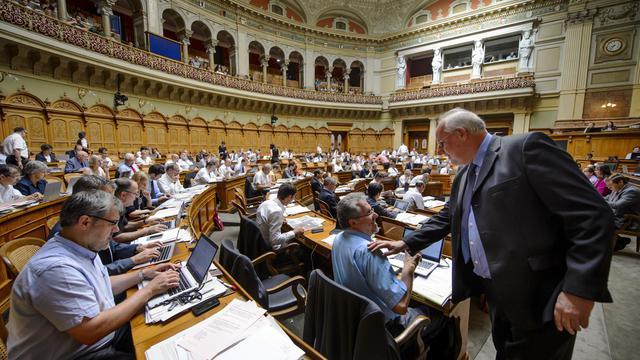 Le Conseil national suisse à Berne, le 18 juin 2013 [Fabrice Coffrini / AFP]