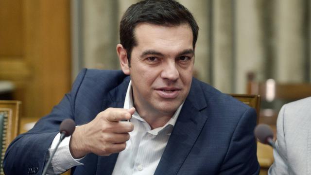 Le Premier ministre grec Alexis Tsipras lors du premier conseil des ministres du nouveau gouvernement le 25 septembre 2015 à Athènes [LOUISA GOULIAMAKI / AFP]