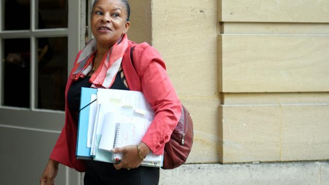 Christiane Taubira à son arrivée à Matignon le 6 janvier 2016 à Paris [MARTIN BUREAU / AFP/Archives]