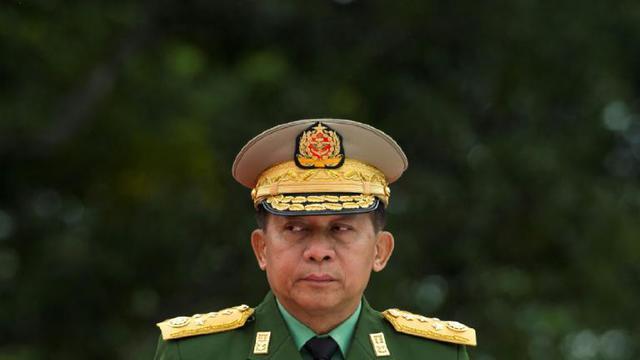 Le chef de l'armée birmanie Min Aung Hlaing à Rangoun le 19 juillet 2018 [YE AUNG THU / AFP/Archives]