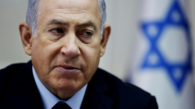 Le Premier ministre israélien Benjamin Netanyahu, le 28 octobre 2018 à Jérusalem [Oded Balilty / POOL/AFP/Archives]