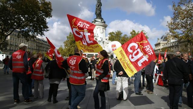 Manifestation à l'appel de la CGT, le 23 septembre 2015 à Paris [Thomas Samson / AFP/Archives]