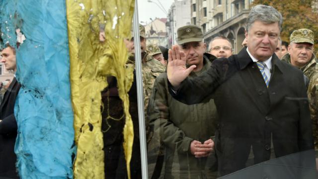 Le président ukrainien Petro Porochenko le 14 octobre 2015 à Kiev [GENYA SAVILOV / AFP/Archives]