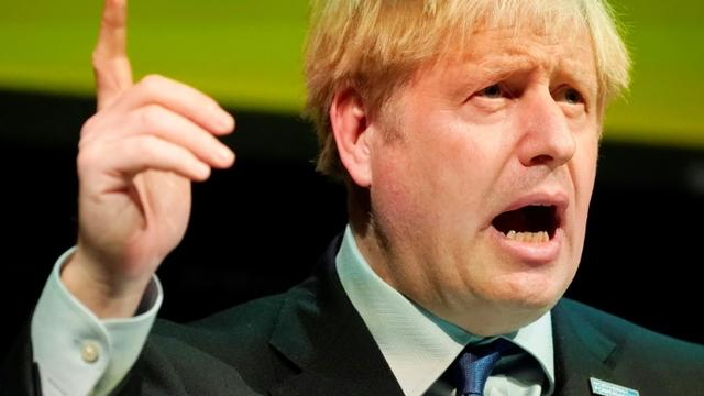 Le Premier ministre britannique Boris Johnson, le 13 septembre 2019 à Rotherham (nord de l'Angleterre) [Christopher Furlong / POOL/AFP]
