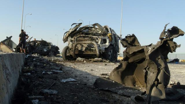 Attentat suicide à la voiture piégée à Ramadi en Irak, le 17 septembre 2014 [AZHAR SHALLAL / AFP/Archives]