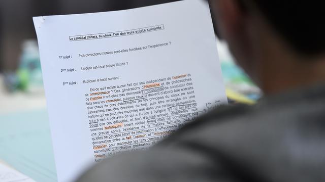 Certains professeurs avaient souhaité mettre en place une «grève des notes» au moment des corrections des copies du bac.