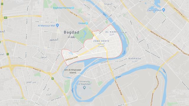 Trois roquettes sont tombées lundi soir sur la Zone verte de Bagdad, près de l'ambassade américaine.