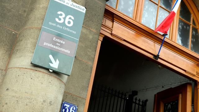 L'entrée du siège de la police judiciaire, 36 quai des Orfèvres, le 6 août 2014 à Paris [BERTRAND GUAY / AFP/Archives]