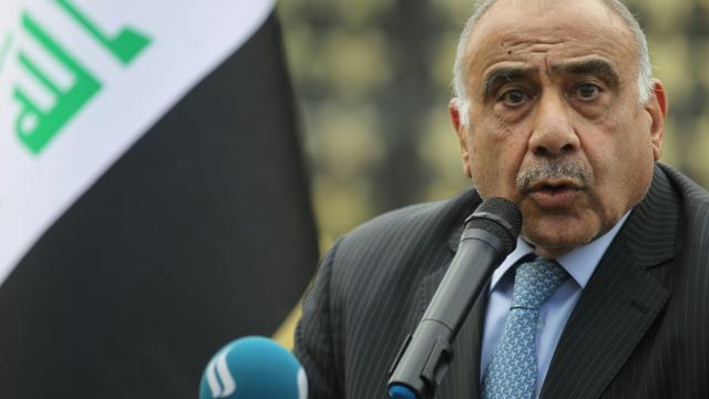 Le Premier ministre irakien démissionnaire, Adel Abdel Mahdi, le 23 octobre 2019 à Bagdad [AHMAD AL-RUBAYE / AFP/Archives]