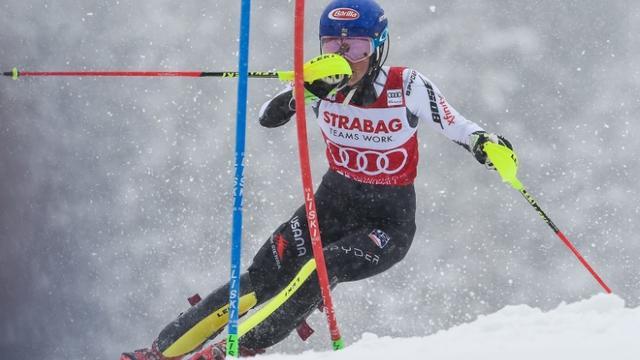 L'Américaine Mikaela Shiffrin remporte le slalom de Spindleruv Mlyn en République tchèque le 9 mars 2019 [Michal CIZEK / AFP]