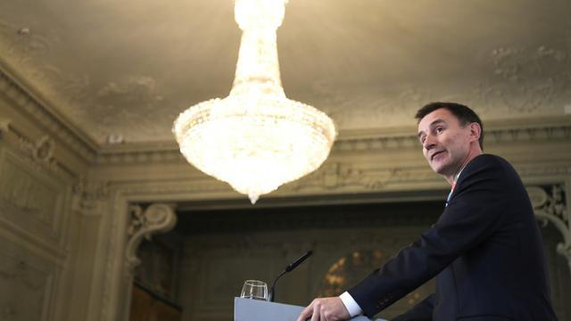 Le ministre des Affaires Etrangères britannique Jeremy Hunt le 8 novembre 2018 à Paris [ALAIN JOCARD / AFP]