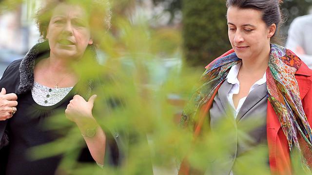 La sénatrice Marie-Christine Blandin, qui a démissioné mercredi d'Europe Ecologie-Les Verts (EELV), aux côtés de Cécile Duflot le 24 septembre 2010 [Philippe Huguen / AFP/Archives]