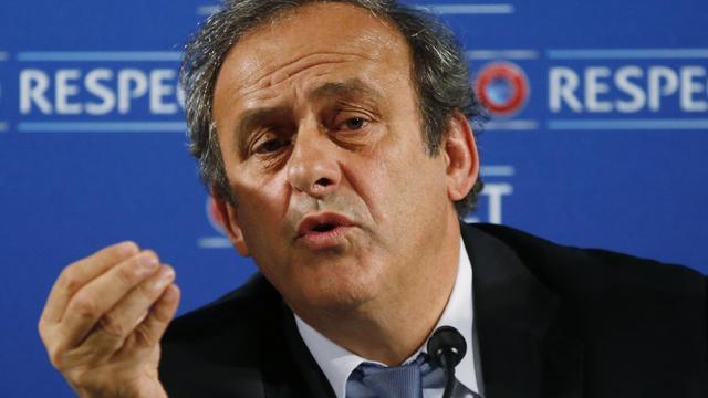 Michel Platini, président de l'UEFA, le 22 février 2014 à Nice [Valery Hache / AFP/Archives]