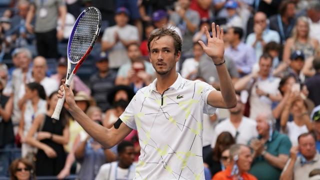 Le Russe Daniil Medvedev se qualifie pour les demi-finales de l'US Open le 3 septembre 2019 [TIMOTHY A. CLARY / AFP]