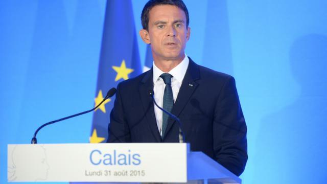 Le Premier ministre Manuel Valls le 31 août 2015 lors d'un déplacement à Calais  [DENIS CHARLET / AFP/Archives]