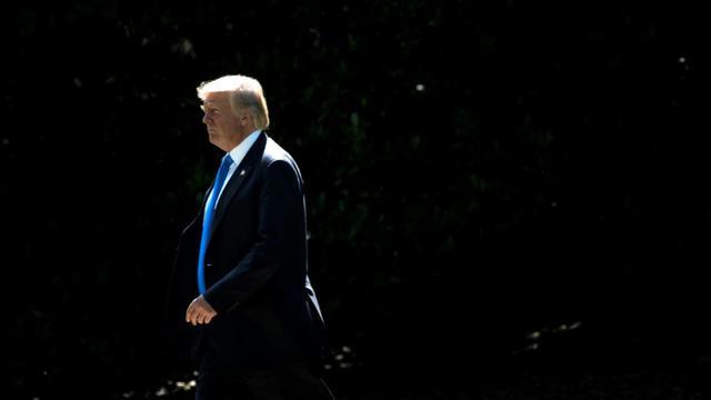 Le président américain Donald Trump, le 9 juin 2017 à Washington [Brendan Smialowski / AFP]