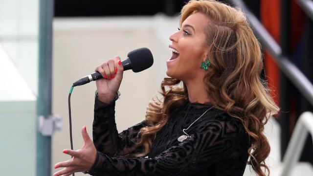 Beyoncé, lors de l'investiture de Barack Obama
