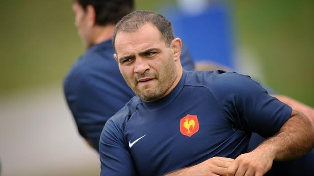 Raphael Ibanez, alors entraîneur et capitaine du XV de France lors d'une séance d'entraînement, le 10 octobre 2007 à Marcoussis   [MARTIN BUREAU / AFP/Archives]