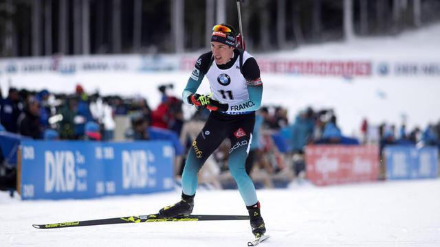Quentin Fillon-Maillet a terminé à la deuxième place derrière Johannes Boe.