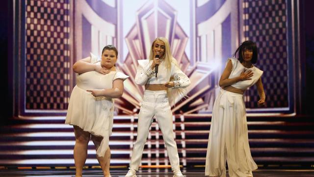Bilal Hassani lors des répétitions pour l'Eurovision.