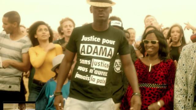 W9 floute le t-shirt de Black M en hommage