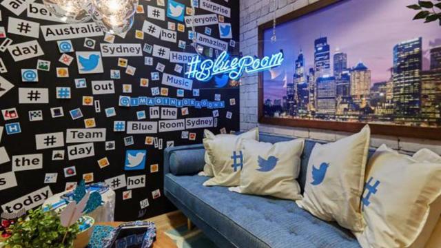 Le plateau de la Blue Room de Twitter en Australie.