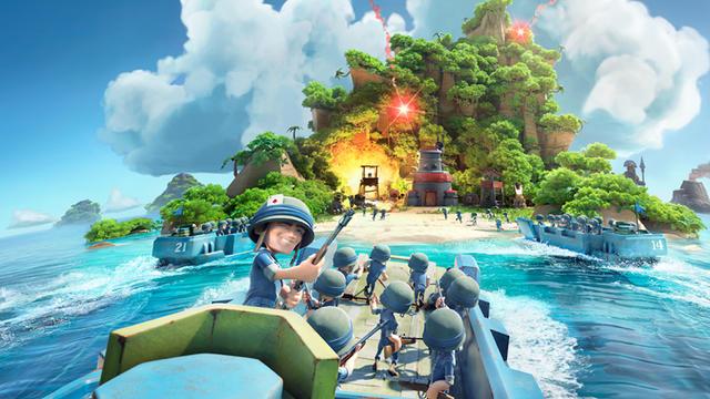Boom Beach est un jeu mêlant stratégie et action.