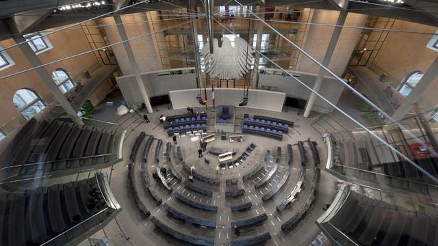 Vueintérieure du Bundestag à Berlin