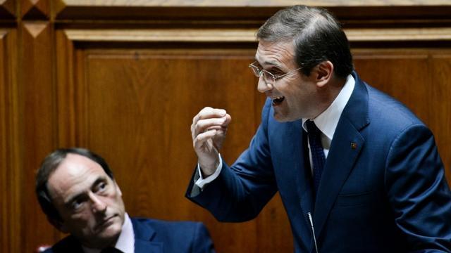 Le Premier ministre portugais  Pedro Passos Coelho le 9 novembre 2015 à l'Assemblée nationale à Paris [PATRICIA DE MELO MOREIRA / AFP]