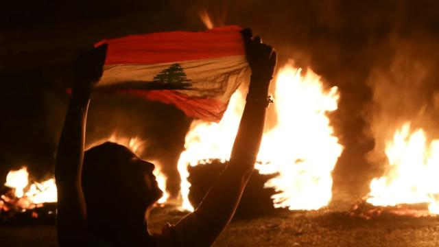 Manifestation antigouvernementale à Byblos, au nord de Beyrouth, le 13 novembre 2019 [Joseph EID / AFP]