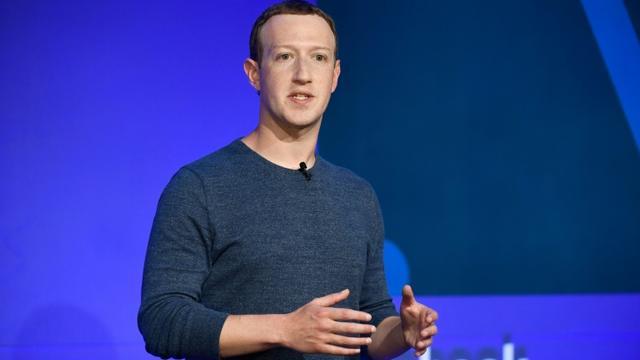 Mark Zuckerberg lors d'une conférence de presse à Paris le 23 mai 2018 [BERTRAND GUAY / AFP/Archives]