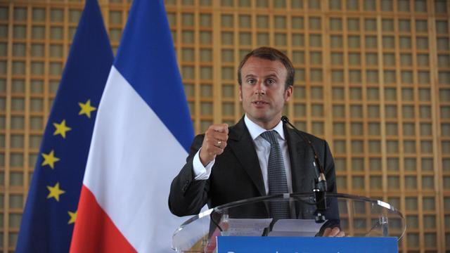 Emmanuel Macron lors de la passation de pouvoirs le 27 août 2014 à Bercy  [Eric Piermont / AFP/Archives]