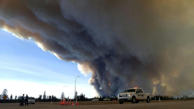 Image fournie par la police d'Alberta de Fort McMurray, au Canada, le 7 mai 2016 [RCMP Alberta / Alberta RCMP/AFP/Archives]