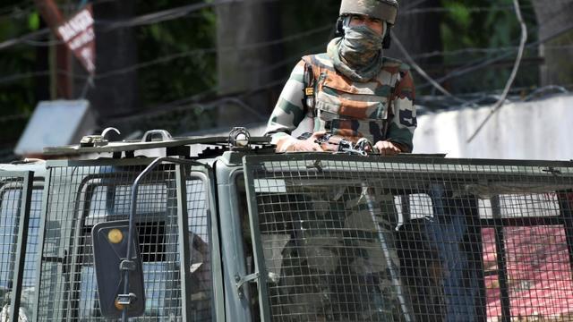 Un soldat indien à Srinagar au Cachemire indien le 18 août 2019 [Punit PARANJPE / AFP]