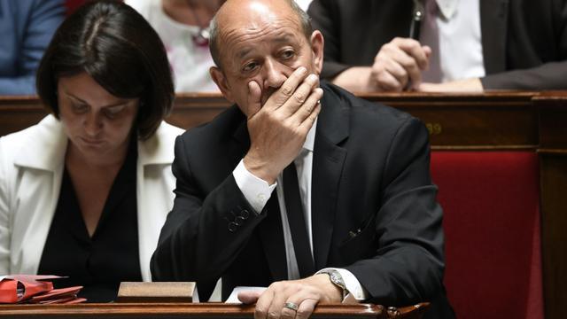 Jean-Yves Le Drian à l'Assemblée nationale le 29 juin 2015 [MARTIN BUREAU / AFP/Archives]