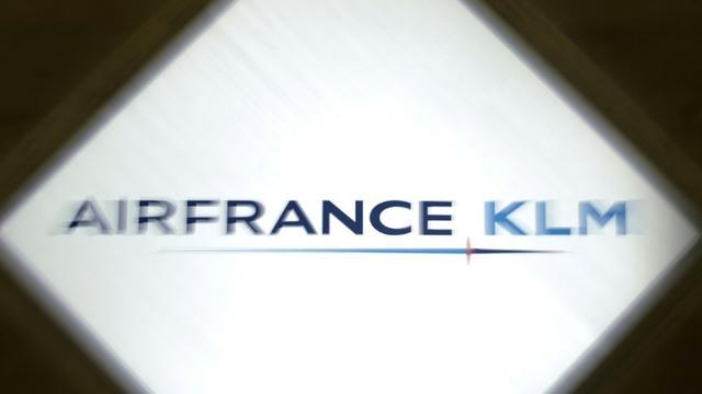 Le logo d'Air France-KLM, le 9 juillet 2009 à Paris [Philipp Guelland / AFP/Archives]